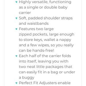 Twingo Accessories - TWINGO baby carriers WITH INSERTS included